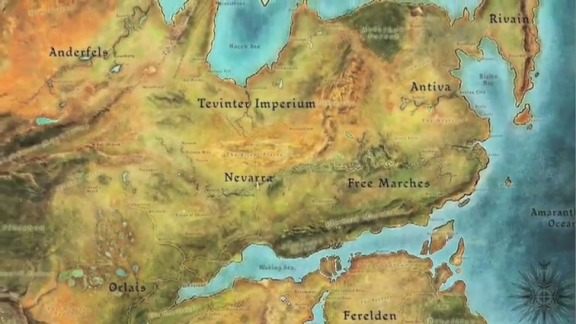 Thedas map. The excellent writers of Dragon Age: Origins