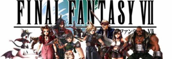 Final Fantasy VII characters slider Final Fantasy VII Bundled with U.S. Xperia Play
