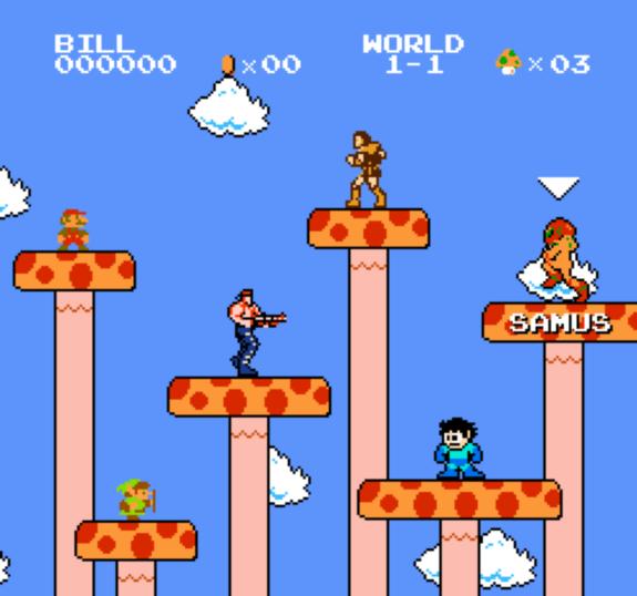 Super Mario Crossover Super Mario Crossover Bring Link, Mega Man, and Samus to SMB
