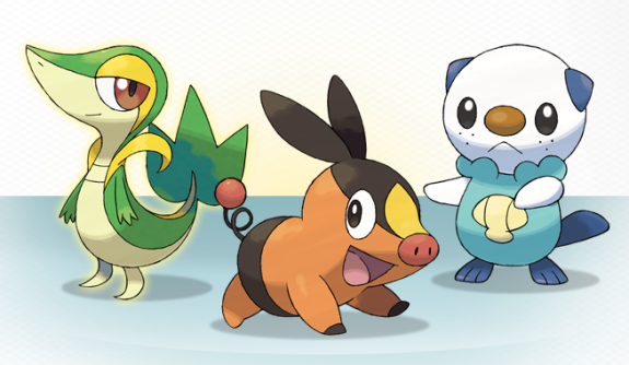 have revealed the names of the Pokemon Black and Pokemon White starters!