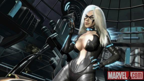 Black Cat Spider Man Edge of Time Katee Sackhoff Voicing Black Cat in Spider Man: Edge of Time